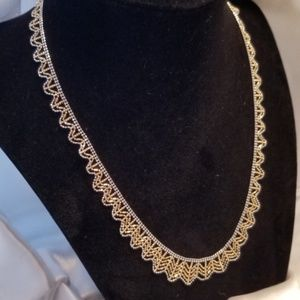 Jewelry - 14 Carat Yellow & White Gold Necklace